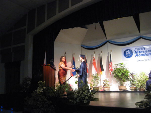 Receiving math award